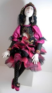 Donna's Pink black French doll