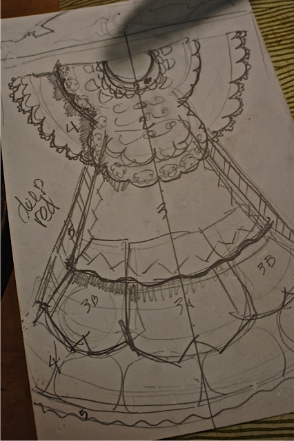 M's dress sketch