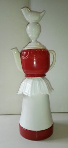 Red teapot totem