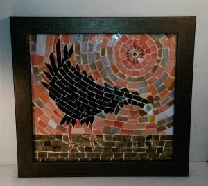 Shirley's crow mosaic