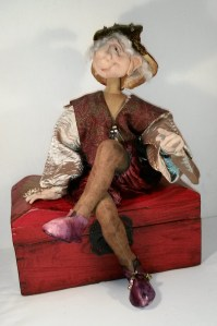Shirley's doll on chest