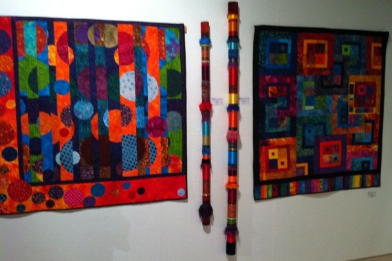 Colleen's 2 quilts with 2 poles