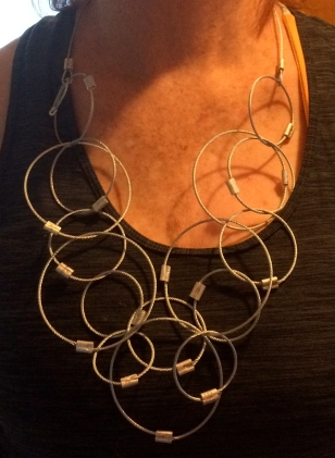 Colleen's cable necklace