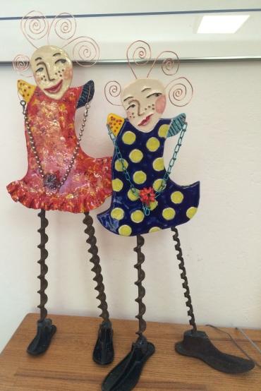 Colleen's ceramic dolls
