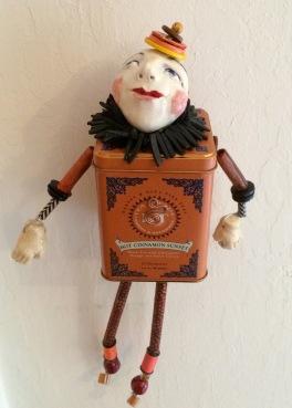Colleen's cinnamon tin wall doll