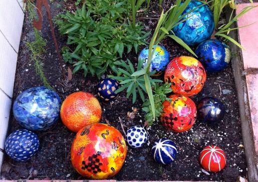 Colleen's garden balls
