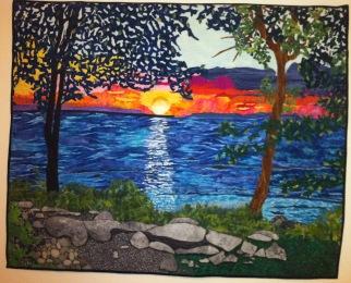 Colleen's landscape quilt