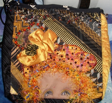 Colleen's purse with head