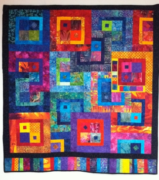 Colleen's quilt squares within squares