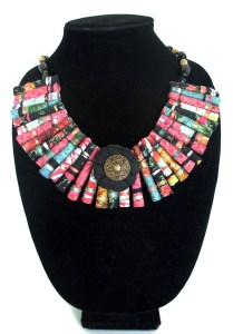 Donna's fabric tube necklace