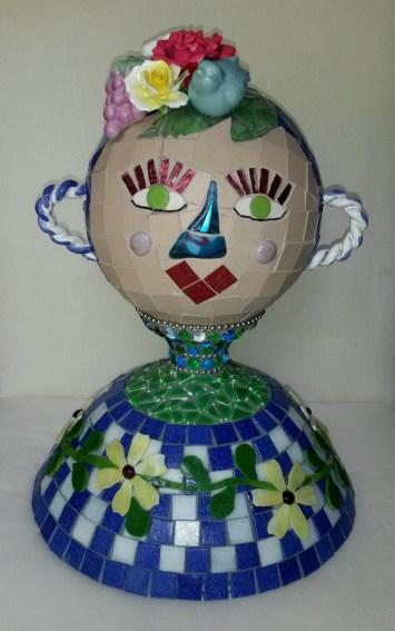 Blue Mosaic lady