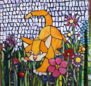 Suzanne's mosaic cat