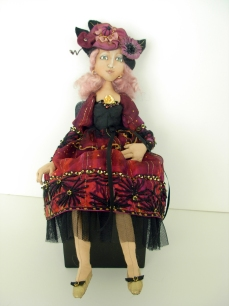 Donna's red black doll 12-16