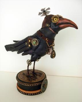 Donna's black steampunk crow