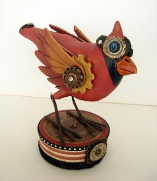 Donna's pink steampunk crow