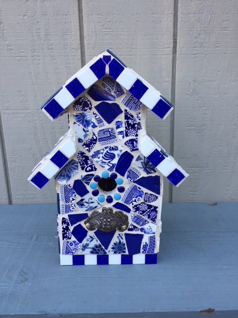 Ron's blue birdhouse