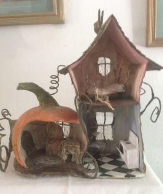 Melissa Tereck's pumpkin house